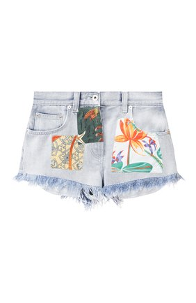 Женские джинсовые шорты loewe x paula's ibiza LOEWE голубого цвета, арт. S616331X10 | Фото 1