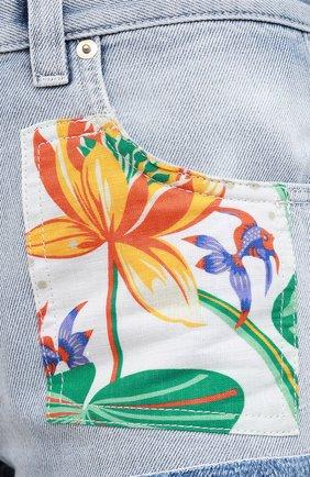 Женские джинсовые шорты loewe x paula's ibiza LOEWE голубого цвета, арт. S616331X10   Фото 5 (Женское Кросс-КТ: Шорты-одежда; Кросс-КТ: Деним; Длина Ж (юбки, платья, шорты): Мини; Материал внешний: Хлопок; Стили: Кэжуэл)