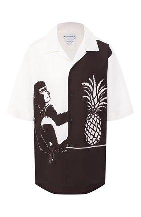 Женская рубашка из вискозы BOTTEGA VENETA коричневого цвета, арт. 622817/VKT20 | Фото 1