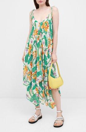 Женское шелковое платье loewe x paula's ibiza LOEWE разноцветного цвета, арт. S616335X40 | Фото 2