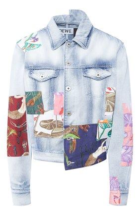 Женская джинсовая куртка loewe x paula's ibiza LOEWE голубого цвета, арт. S616330X01 | Фото 1