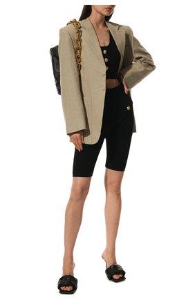 Женские кожаные мюли BOTTEGA VENETA коричневого цвета, арт. 608854/VBSS0 | Фото 2