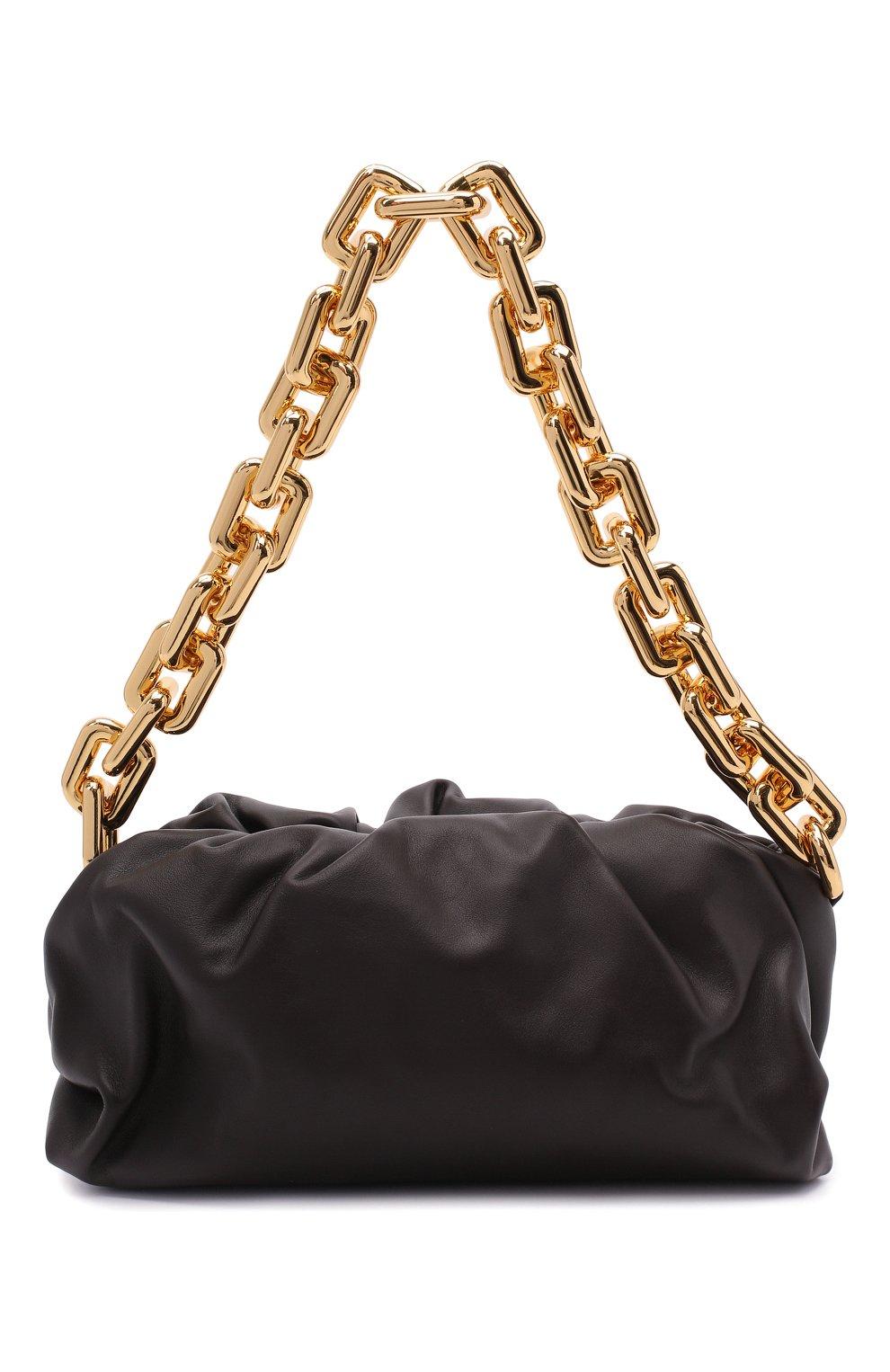 Женская сумка chain pouch BOTTEGA VENETA темно-коричневого цвета, арт. 620230/VCP40   Фото 1