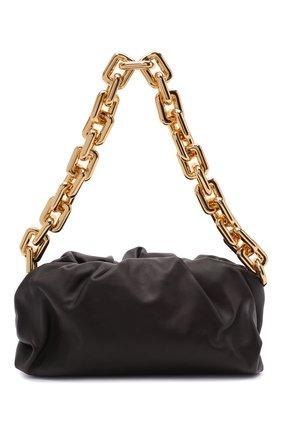 Женская сумка chain pouch BOTTEGA VENETA темно-коричневого цвета, арт. 620230/VCP40 | Фото 1 (Материал: Натуральная кожа; Сумки-технические: Сумки top-handle, Сумки через плечо; Размер: medium)