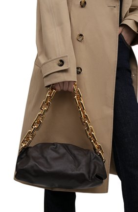 Женская сумка chain pouch BOTTEGA VENETA темно-коричневого цвета, арт. 620230/VCP40   Фото 2