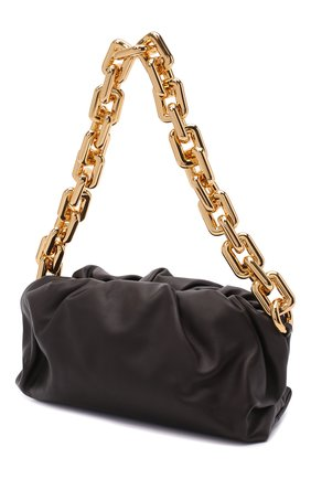 Женская сумка chain pouch BOTTEGA VENETA темно-коричневого цвета, арт. 620230/VCP40   Фото 4