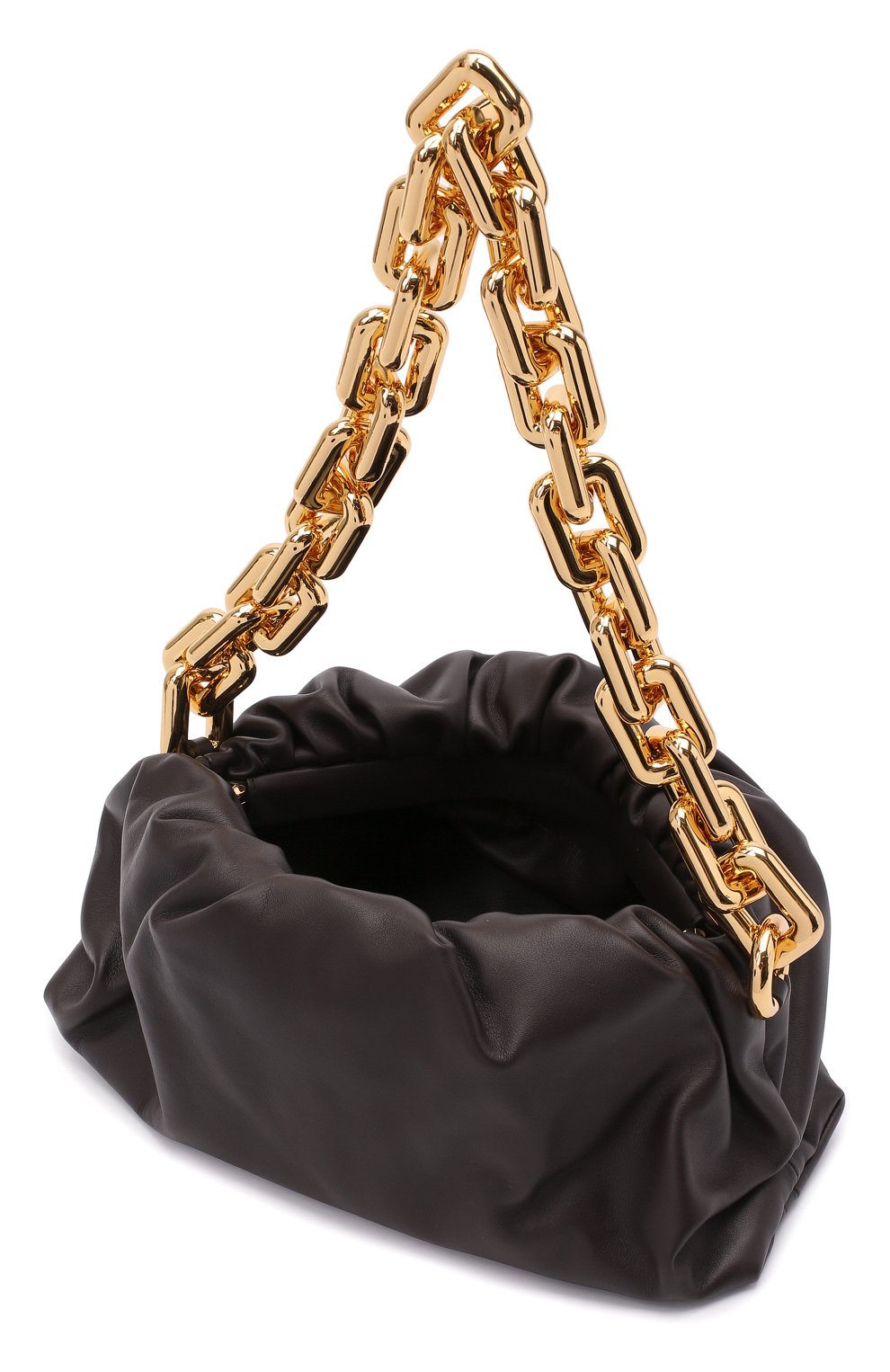 Женская сумка chain pouch BOTTEGA VENETA темно-коричневого цвета, арт. 620230/VCP40   Фото 5