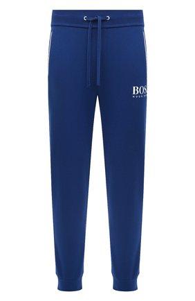 Мужской хлопковые джоггеры BOSS синего цвета, арт. 50431098 | Фото 1