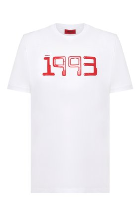 Мужская хлопковая футболка HUGO белого цвета, арт. 50432197   Фото 1