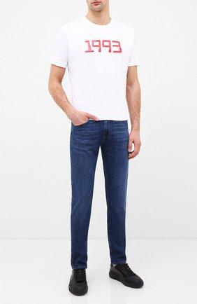 Мужская хлопковая футболка HUGO белого цвета, арт. 50432197 | Фото 2