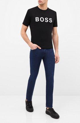 Мужская футболка BOSS черного цвета, арт. 50430889 | Фото 2