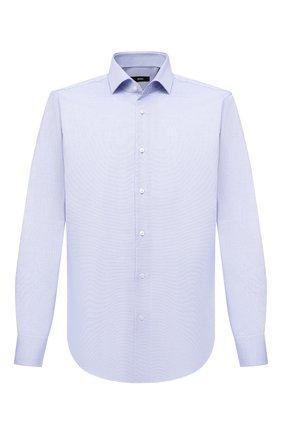Мужская хлопковая сорочка BOSS синего цвета, арт. 50433351 | Фото 1