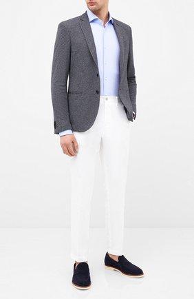 Мужской пиджак BOSS синего цвета, арт. 50432900 | Фото 2