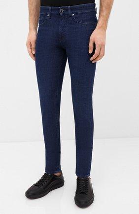 Мужские джинсы BOSS темно-синего цвета, арт. 50432462 | Фото 3