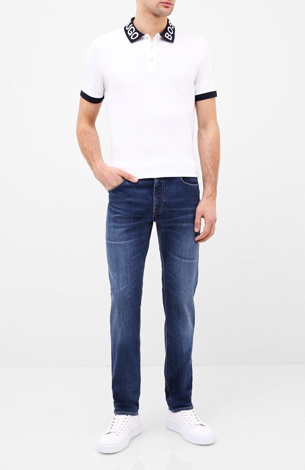 Мужские джинсы BOSS синего цвета, арт. 50432439 | Фото 2