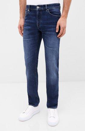 Мужские джинсы BOSS синего цвета, арт. 50432439 | Фото 3