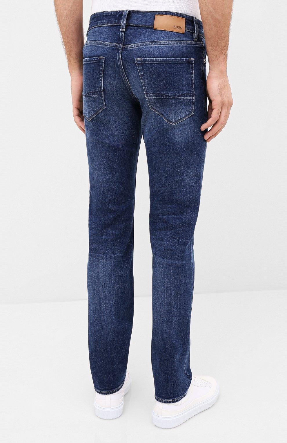 Мужские джинсы BOSS синего цвета, арт. 50432439 | Фото 4