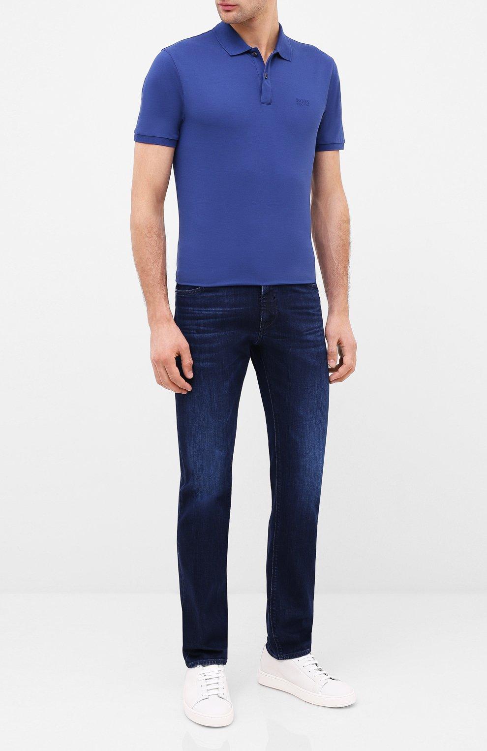 Мужские джинсы BOSS синего цвета, арт. 50432427 | Фото 2
