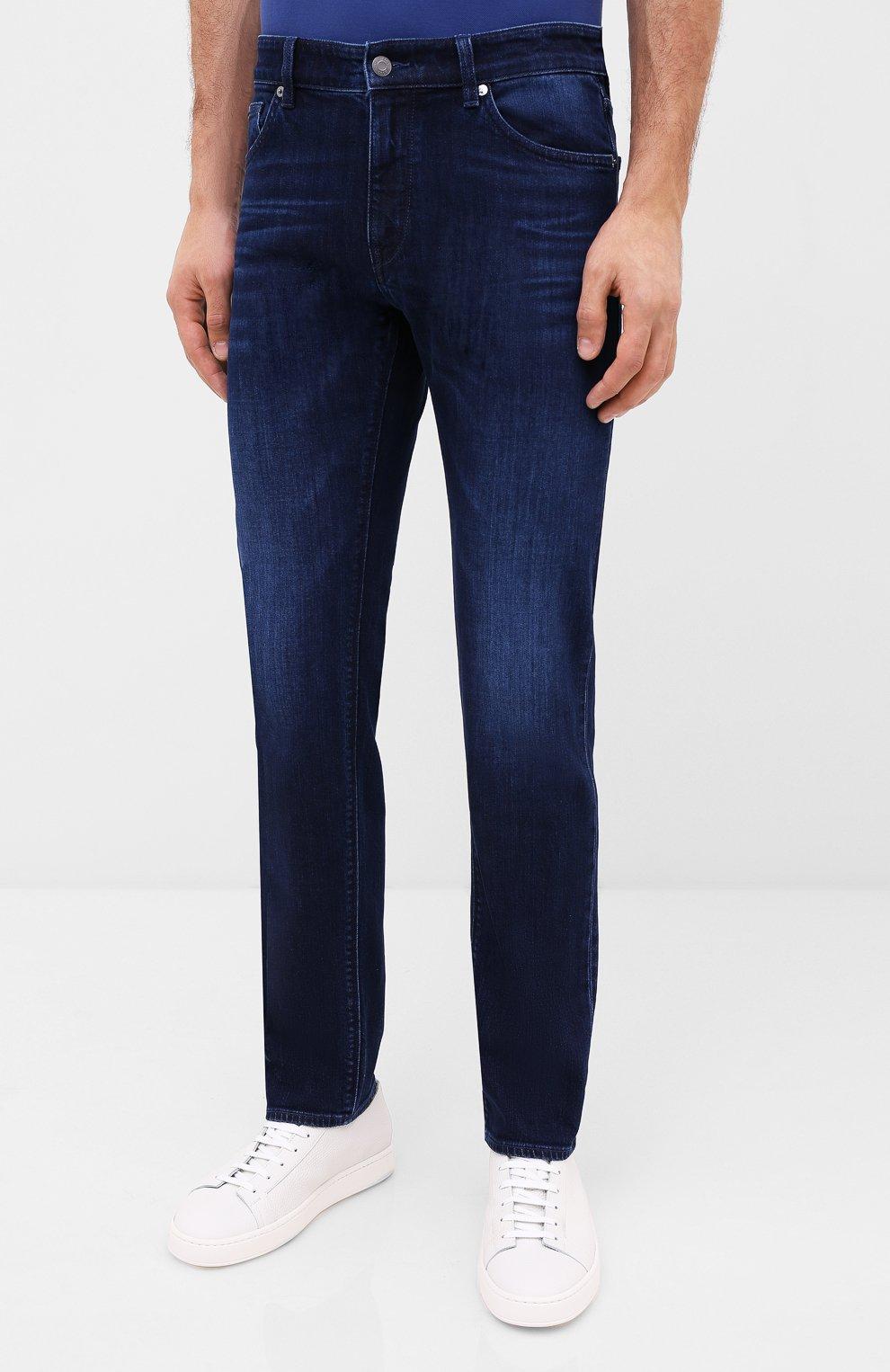 Мужские джинсы BOSS синего цвета, арт. 50432427 | Фото 3