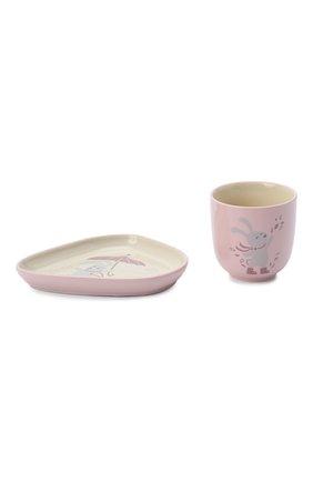 Детского набор тарелка и чашка BLOOMINGVILLE розового цвета, арт. 21235868 | Фото 1