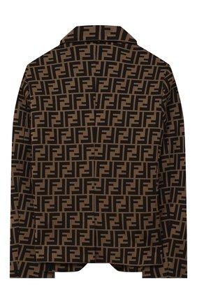 Детский хлопковый пиджак FENDI коричневого цвета, арт. JMA184/A6A6/8A-12+ | Фото 2