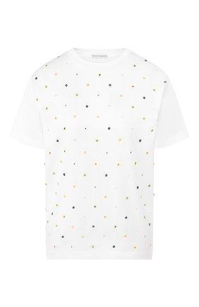 Женская хлопковая футболка CECILIE BAHNSEN белого цвета, арт. PS20-0029 | Фото 1
