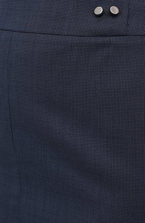 Женская шерстяная юбка BOSS темно-синего цвета, арт. 50430667 | Фото 5