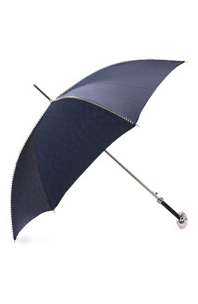 Мужской зонт-трость PASOTTI OMBRELLI темно-синего цвета, арт. 416N/PLAT. BLU+TESCHI/W33 | Фото 2