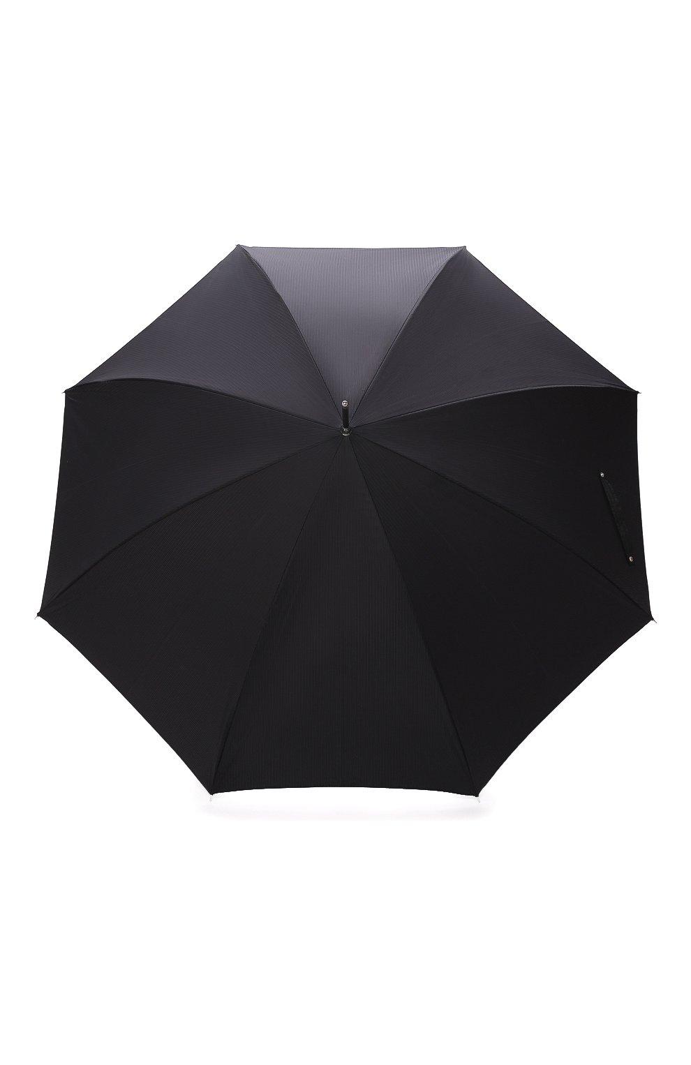 Мужской зонт-трость PASOTTI OMBRELLI черного цвета, арт. 478/RAS0 6768/1/W68 | Фото 1