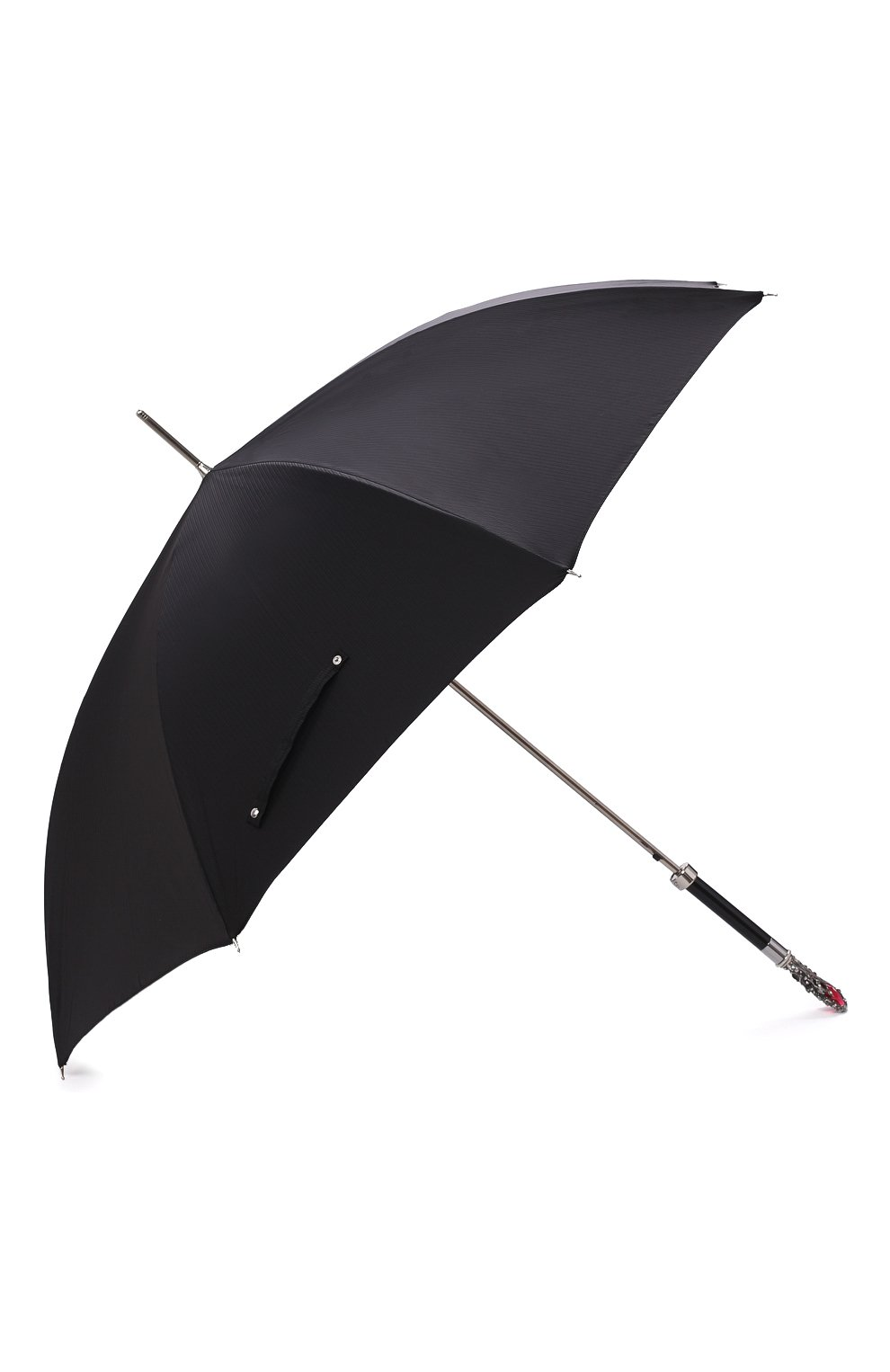 Мужской зонт-трость PASOTTI OMBRELLI черного цвета, арт. 478/RAS0 6768/1/W68 | Фото 2
