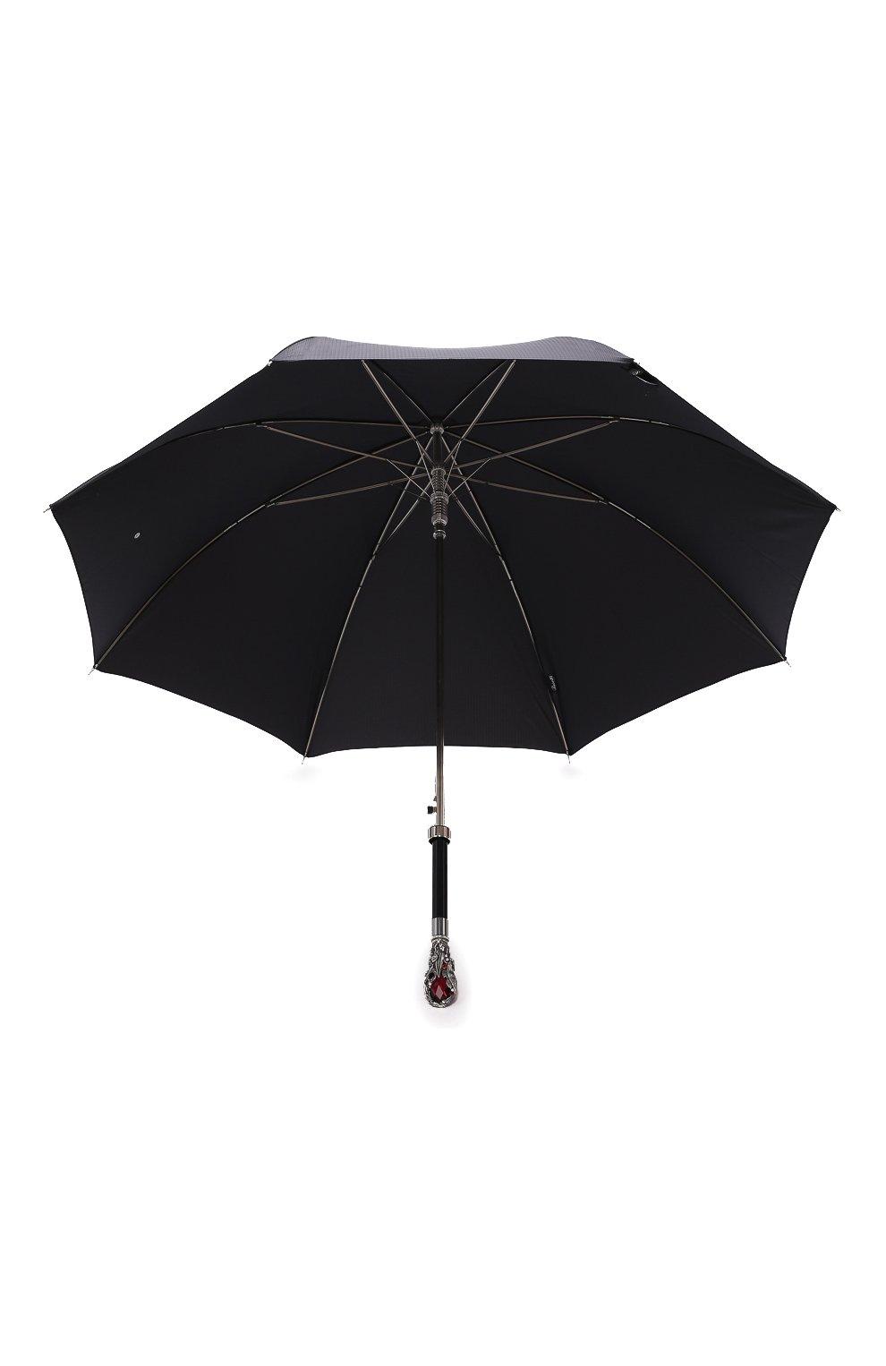 Мужской зонт-трость PASOTTI OMBRELLI черного цвета, арт. 478/RAS0 6768/1/W68 | Фото 3