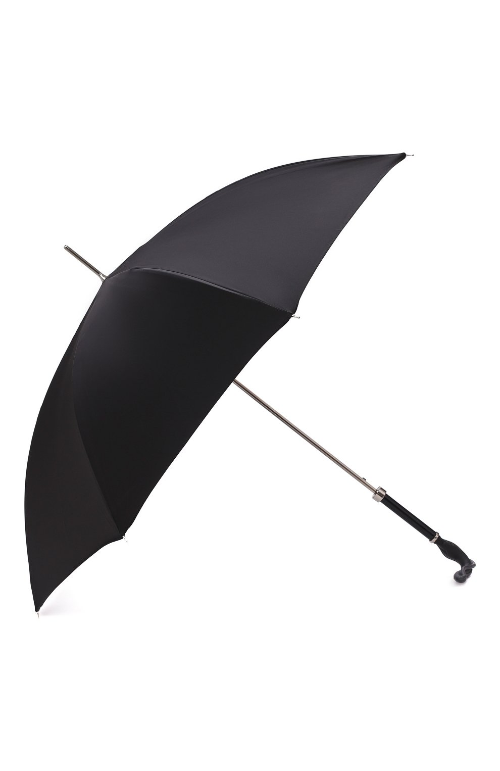 Мужской зонт-трость PASOTTI OMBRELLI черного цвета, арт. 478/RAS0 0XF0RD/18/W09   Фото 2
