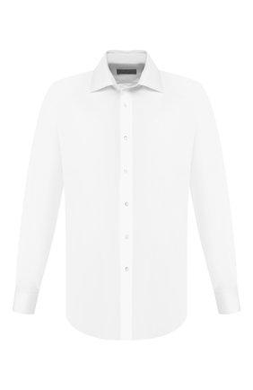 Мужская хлопковая сорочка CANALI белого цвета, арт. 705/GD00652 | Фото 1