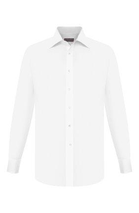 Мужская хлопковая сорочка CANALI белого цвета, арт. 705/GD00652/P | Фото 1