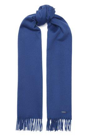 Мужской кашемировый шарф LORO PIANA голубого цвета, арт. FAB9149 | Фото 1