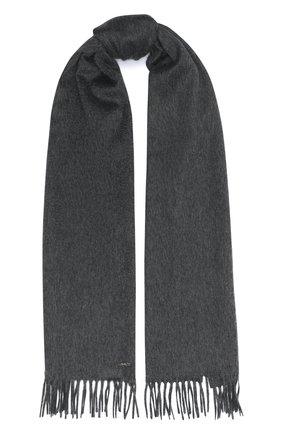 Мужской кашемировый шарф LORO PIANA серого цвета, арт. FAB9149 | Фото 1