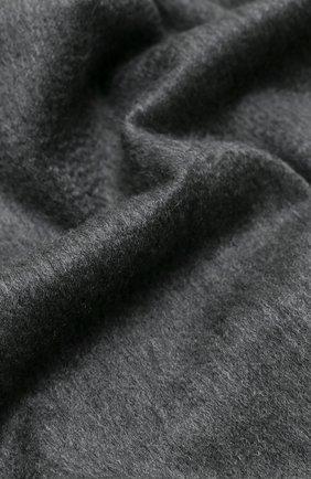 Мужской кашемировый шарф LORO PIANA серого цвета, арт. FAB9149 | Фото 2