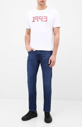 Мужские джинсы BOSS синего цвета, арт. 50432428 | Фото 2