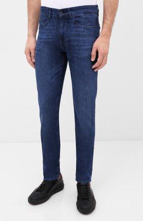 Мужские джинсы BOSS синего цвета, арт. 50432428 | Фото 3