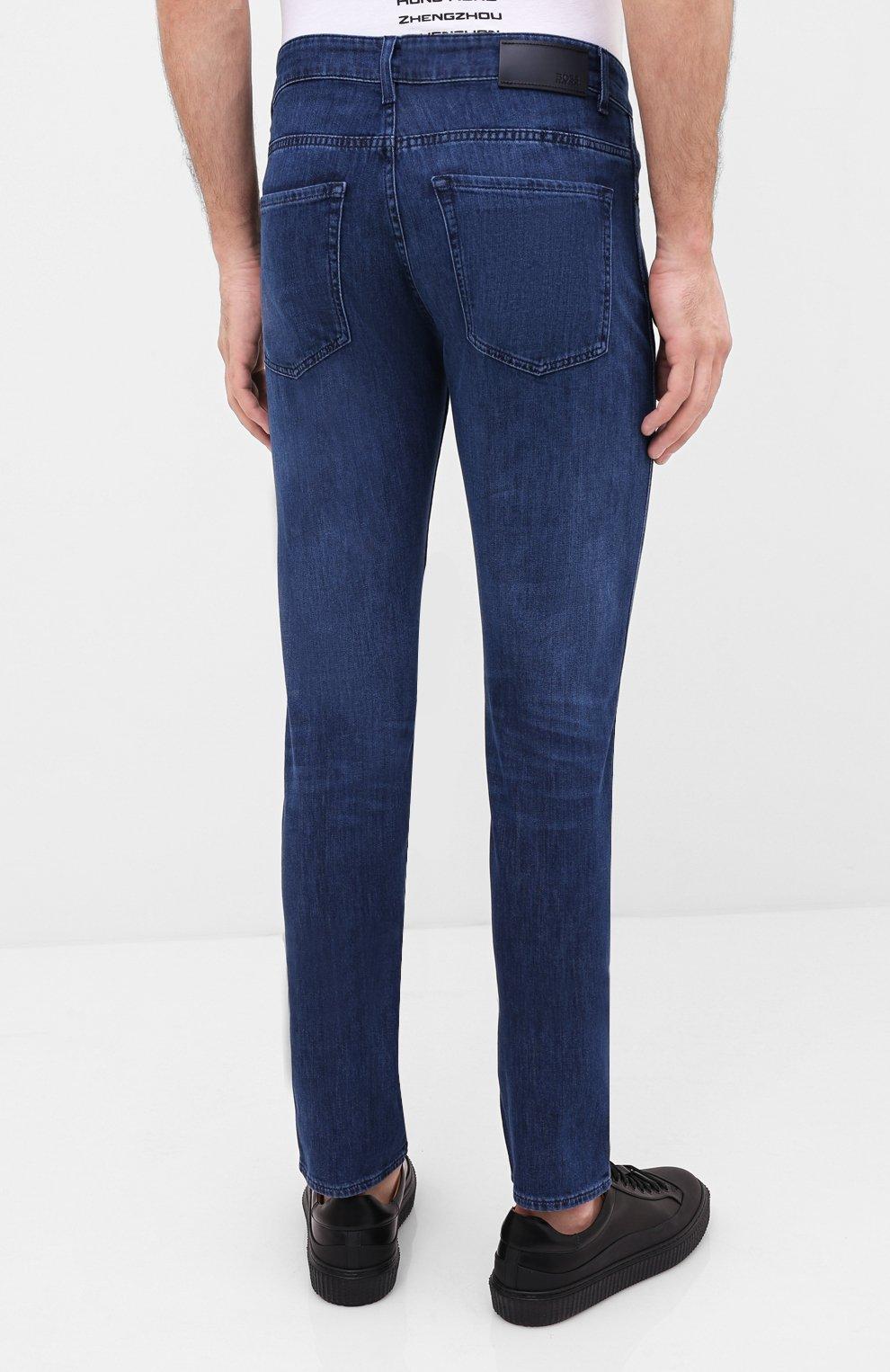 Мужские джинсы BOSS синего цвета, арт. 50432428 | Фото 4