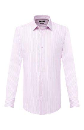 Мужская хлопковая сорочка BOSS розового цвета, арт. 50433086 | Фото 1
