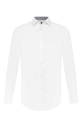 Мужская хлопковая сорочка BOSS белого цвета, арт. 50433326 | Фото 1