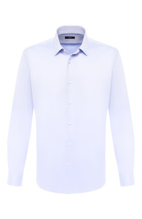 Мужская хлопковая сорочка BOSS синего цвета, арт. 50433149 | Фото 1
