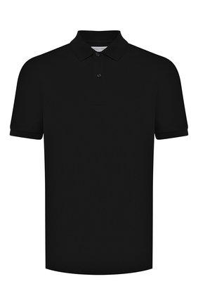Мужское хлопковое поло BOTTEGA VENETA черного цвета, арт. 631006/VK090 | Фото 1