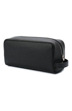 Мужской кожаный несессер SAINT LAURENT черного цвета, арт. 609347/1GF0N | Фото 2
