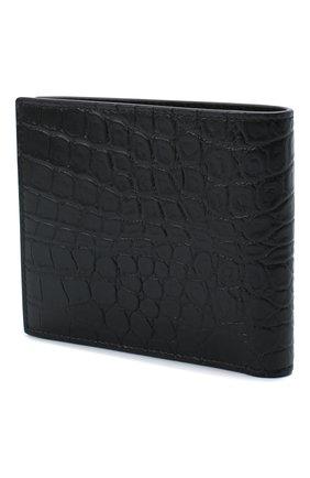 Мужской кожаное портмоне SAINT LAURENT черного цвета, арт. 396303/DZEDE | Фото 2