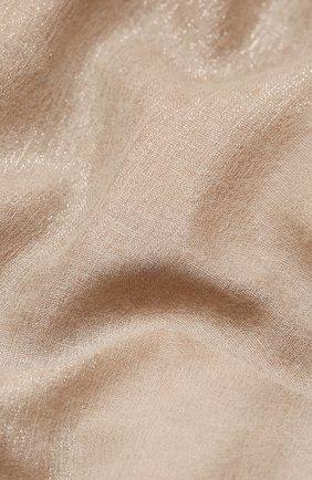 Мужские шарф BRUNELLO CUCINELLI бежевого цвета, арт. MSCDARL32   Фото 2