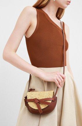 Женская сумка gate loewe x paula's ibiza LOEWE коричневого цвета, арт. A650U62X10   Фото 2