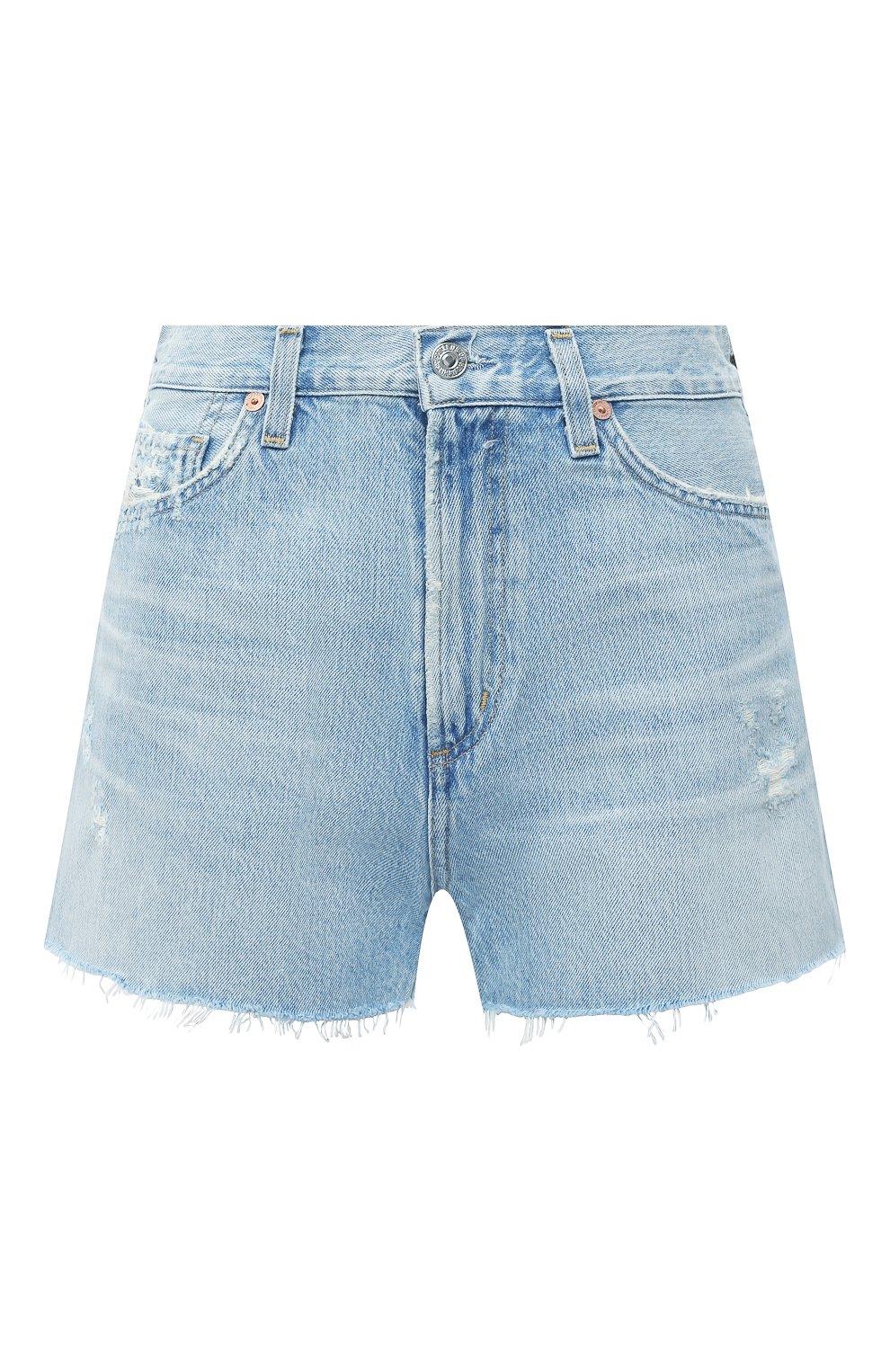 Женские джинсовые шорты CITIZENS OF HUMANITY голубого цвета, арт. 993-1136   Фото 1