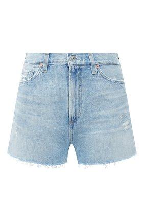 Женские джинсовые шорты CITIZENS OF HUMANITY голубого цвета, арт. 993-1136 | Фото 1